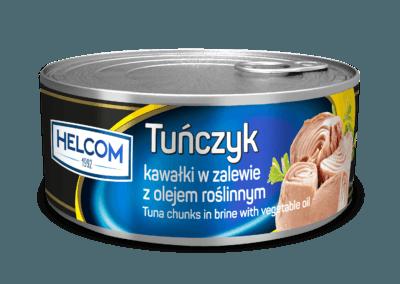Tuńczyk kawałki w zalewie z olejem roślinnym